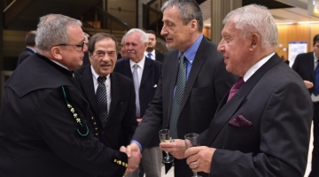Greeting with Minister of Defence Martin Stropnický